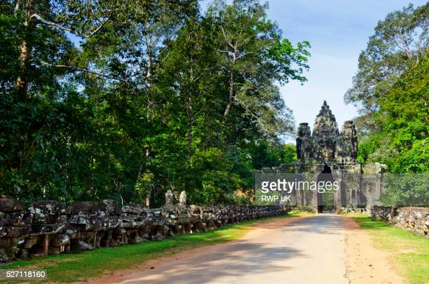 South Gate with Statues, Bayon, Ankor Wat, Cambodia