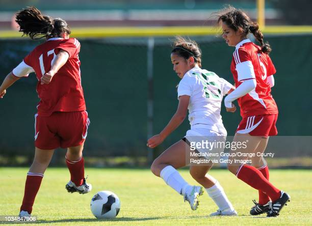 Scott Varley/LANG South girls soccer easily beat visiting Santa Paula 41 in the CIF Southern Section Division IV quarterfinal South's Noelle Ly works...