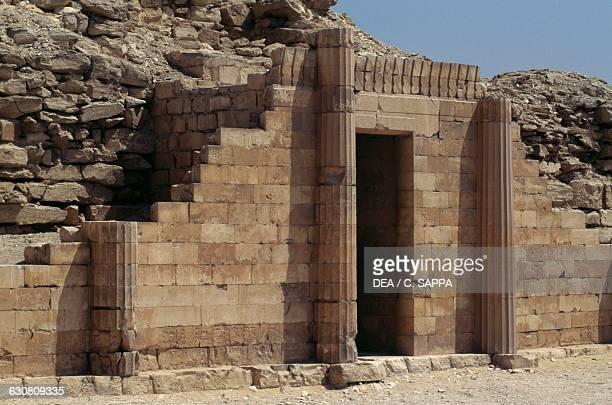 South House defensive wall of the Step Pyramid of Djoser Necropolis of Saqqara Memphis Egypt Egyptian civilisation Old Kingdom Dynasty III