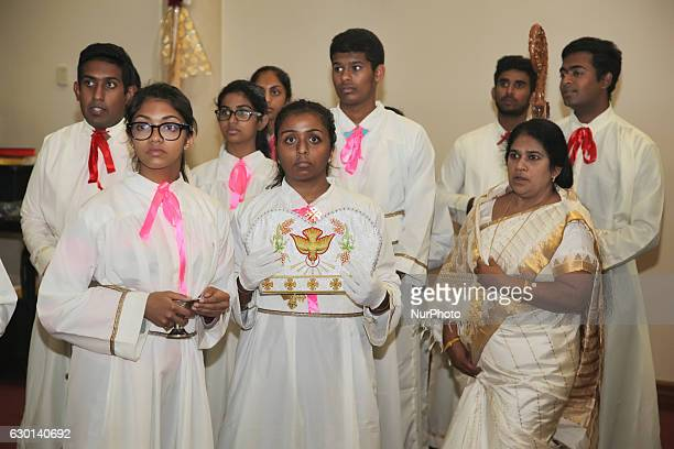 South Indian Catholics take part in special prayers during the anniversary of the 1st Episcopal Ordination of Bishop Jose Kalluvelil in Mississauga...