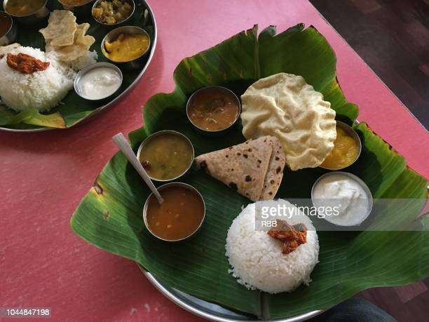 south indian thali - karnataka stock pictures, royalty-free photos & images