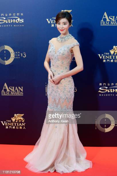 South Korea actress Kim Gyuri attends the 13th Asian Film Awards on March 17 2019 in Hong Kong Hong Kong