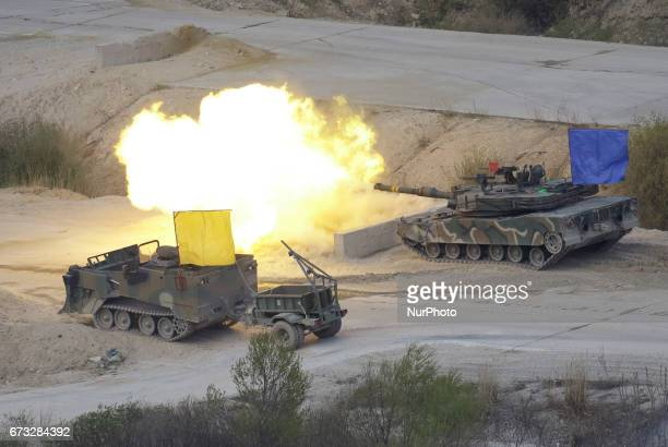 South Korea and United State Military take part in an livefire drill at multiple exercise range in Pocheon South Korea As the White House prepared to...
