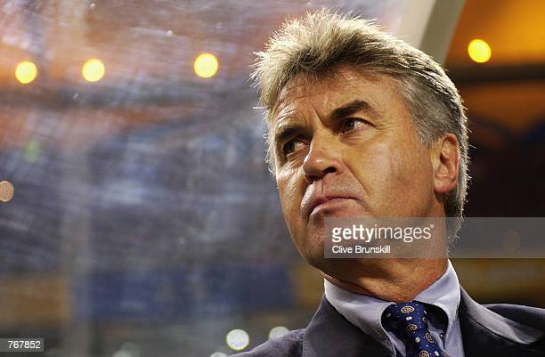 South Korea coach Guus Hiddink during the Portugal v South Korea, Group D, World Cup Group Stage match played at the Incheon Munhak Stadium in...