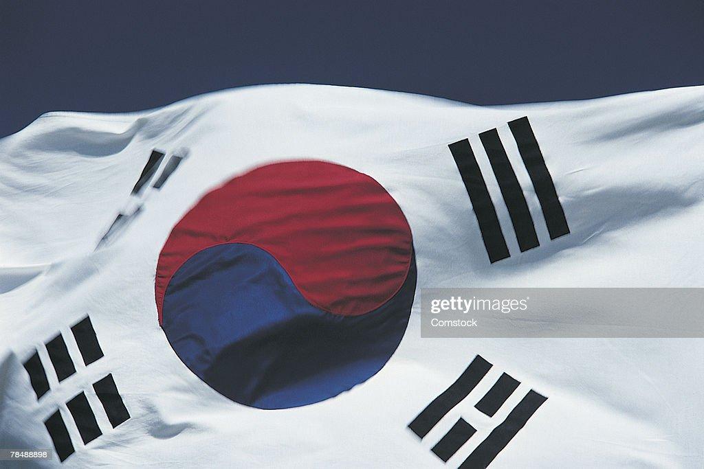 South Korea flag : Stock Photo