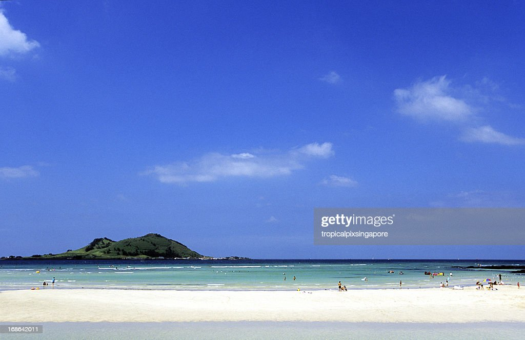 South Korea, Jeju Island, north coast, Hyeop-jae Beach. : Stock Photo