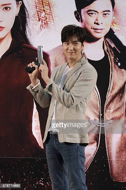 South Korea model and actor Lee Min Ho promotes new movie Bounty Hunters on July 22 2016 in Hong Kong China
