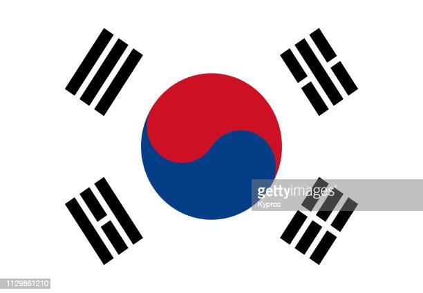 south korea - flag stock pictures, royalty-free photos & images