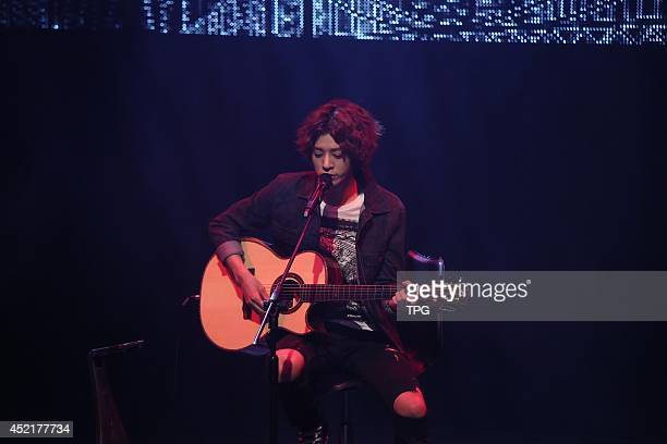 South Korea singer Jung Joon Young meets fans on Saturday July 122014 in TaipeiChina
