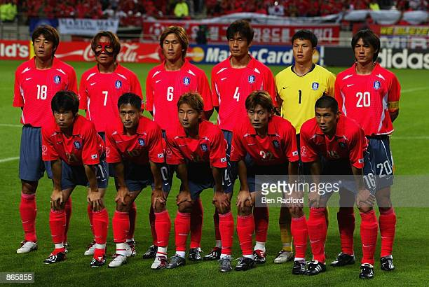 South Korea team group taken before the FIFA World Cup Finals 2002 SemiFinal match between Germany and South Korea played at the Seoul World Cup...
