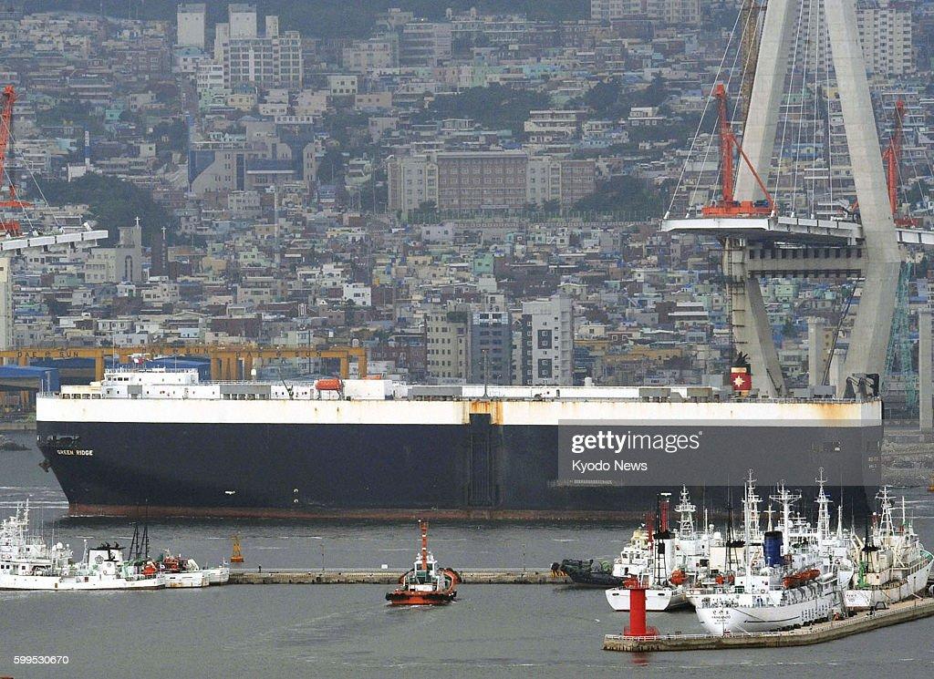 BUSAN, South Korea - The Green Ridge cargo ship carrying the