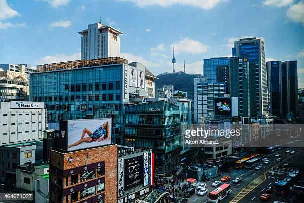south korea travel - seoul stock pictures, royalty-free photos & images