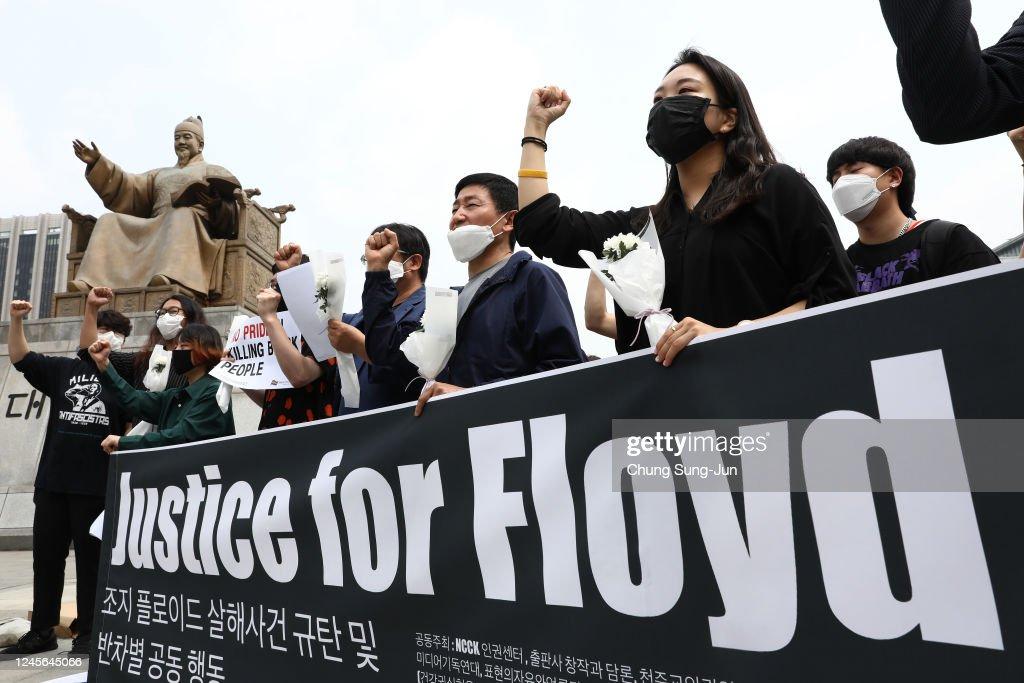South Koreans Rally In Support Of Black Lives Matter : News Photo
