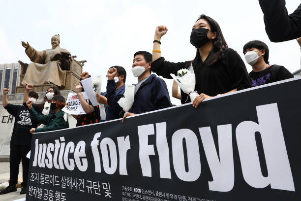 KOR: South Koreans Rally In Support Of Black Lives Matter