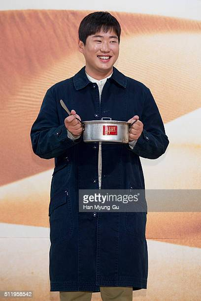 South Korean actor Ahn JaeHong attends the tvN 'Youth Over Flowers In Africa' press conference on February 18 2016 in Seoul South Korea The program...