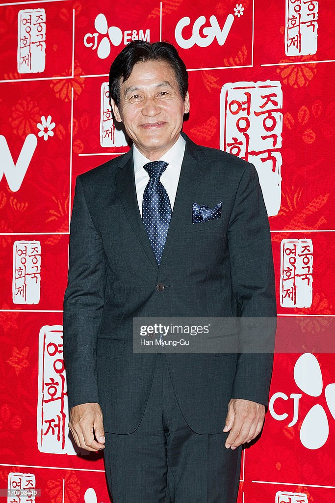 South Korean actor Ahn Sung-Ki arrives during the 2013 Chinese Film Festival opening ceremony at Yeouido CGV on June 16, 2013 in Seoul, South Korea. The festival will showcases 11 films and runs from June 16-20 in South Korea.