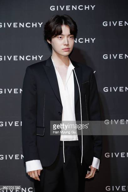 South Korean actor and model Ahn JaeHyun attends during a promotional event for the Givenchy on July 5 2018 in Seoul South Korea