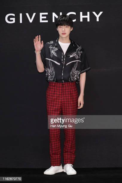 South Korean actor and model Ahn JaeHyun attends the photocall for 'GIVENCHY' at Lotte Department Store on July 18 2019 in Busan South Korea
