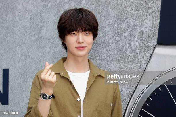 South Korean actor and model Ahn JaeHyun attends the photocall for 'SWATCH' Skin Irony Launch event on May 31 2018 in Seoul South Korea