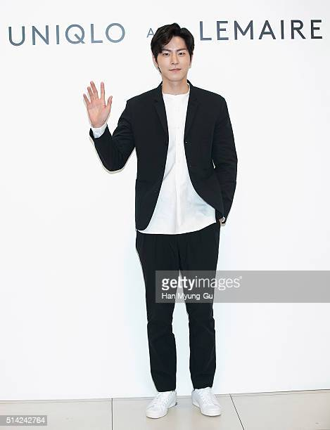 South Korean actor and model Hong JongHyun attends the UNIQLO 'Uniqlo and Lemaire' 2016 S/S Collection on March 3 2016 in Seoul South Korea