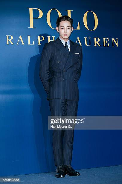 South Korean actor and model Lee Soo-Hyuk attends the launch party for 'Polo Ralph Lauren' Shinsa Store Opening on September 22, 2015 in Seoul, South...