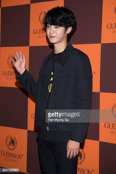 South Korean actor and singer Jung JoonYoung attends the photocall for GUERISSON Media Day at CGV on July 1 2016 in Seoul South Korea