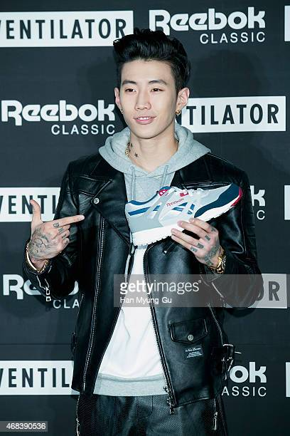 South Korean actor and singer Park JaeBum attends Reebok Classic 'Ventilator' Launch Party on April 2 2015 in Seoul South Korea