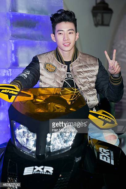 South Korean actor and singer Park JaeBum attends the EXR Excelerate Night at The Raum on February 5 2015 in Seoul South Korea