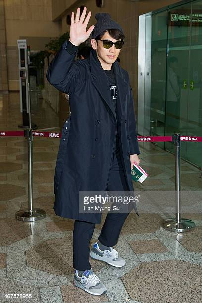 South Korean actor and singer Rain is seen on departure at Gimpo International Airport on February 7, 2014 in Seoul, South Korea.