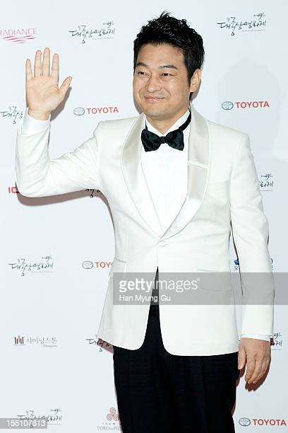 South Korean actor Cho SeongHa attends the 49th Daejong Film Awards at KBS Hall on October 30 2012 in Seoul South Korea
