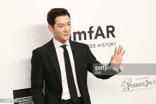 South Korean actor Choi Jinhyuk attends the amfAR Gala Hong Kong 2019 at the Rosewood Hong Kong on March 25 2019 in Hong Kong China