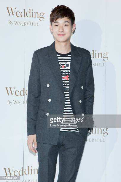 South Korean actor Choi WooShik attends during the wedding of Baek JiYoung at Sheraton Walkerhill Hotel on June 2 2013 in Seoul South Korea