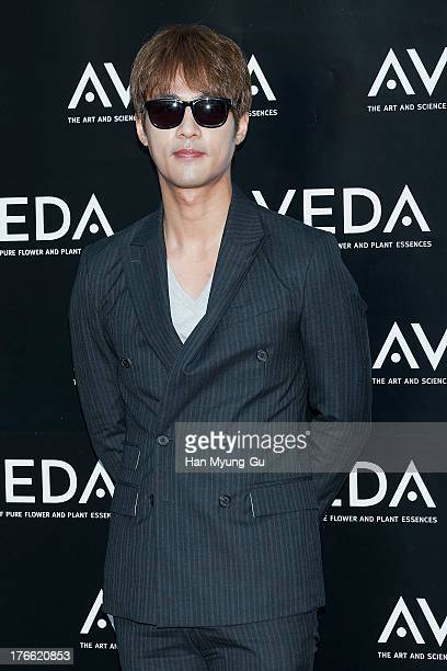 South Korean actor Go JooWon attends during the AVEDA Experience Centre opening event on August 14 2013 in Seoul South Korea