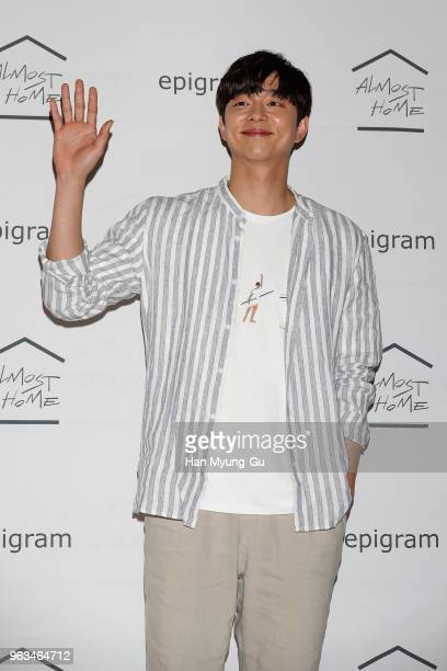 South Korean actor Gong Yoo attends the Epigram Photocall on May 29 2018 in Seoul South Korea