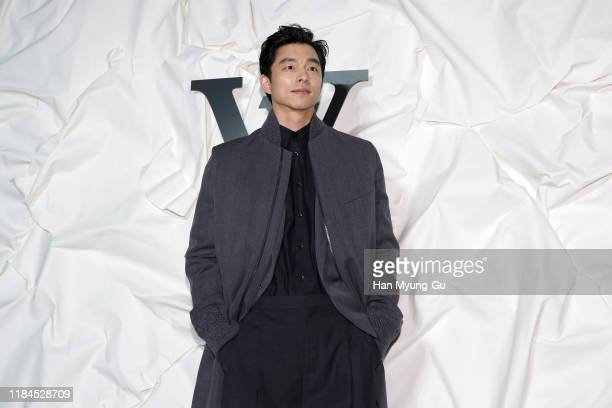 South Korean actor Gong Yoo attends the photocall for 'Louis Vuitton Maison Seoul' opening party on October 30 2019 in Seoul South Korea