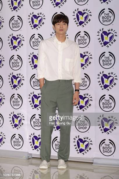 South Korean actor Gong Yoo attends the photocall for The Body Shop 'Some To Love Studio' popup store open on September 3 2018 in Seoul South Korea
