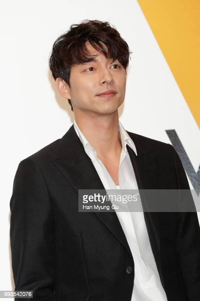 South Korean actor Gong Yoo attends the photocall for Volez Voguez Voyagez Louis Vuitton Exhibition at DDP on June 7 2017 in Seoul South Korea