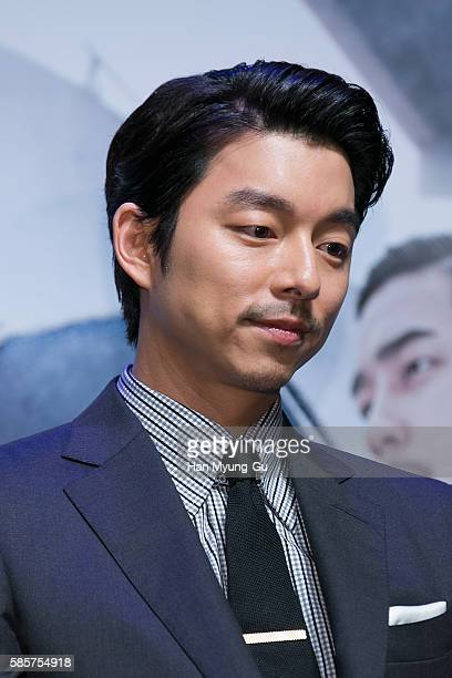 South Korean actor Gong Yoo attends the press conference for 'The Age Of Shadows' at CGV on August 4 2016 in Seoul South Korea The film will open on...