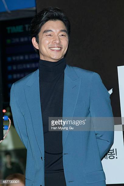 South Korean actor Gong Yoo attends The Suspect VIP screening at COEX Mega Box on December 17 2013 in Seoul South Korea The film will open on...