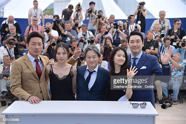 South Korean actor Ha Jung-Woo, South Korean actress Kim Min-Hee, Park Chan-wook, South Korean actress Kim Tae-Ri and South Korean actor Jo...