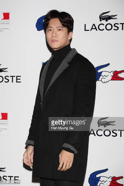 South Korean actor Ha SeokJin aka Ha SukJin attends the LACOSTE France Olympic Collection Launch on November 3 2017 in Seoul South Korea