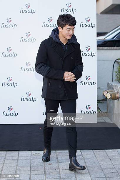 South Korean actor Ha SeokJin aka Ha SukJin attends the photocall for 'Fusalp' 2016 F/W Launch event on November 9 2016 in Seoul South Korea