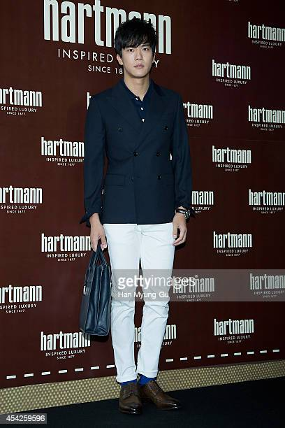 South Korean actor Ha SeokJin attends 'Hartmann' Flagship Store Opening on August 27 2014 in Seoul South Korea