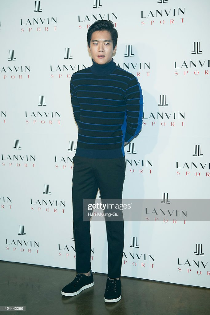 South Korean actor Ha Seok-Jin (Ha Suk-Jin) attends 'Lanvin Sport' FW 2014 Grand Open on August 29, 2014 in Seoul, South Korea.