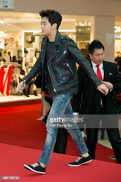 South Korean actor Ha SeokJin attends the opening event for HM YeongDeungPo Times Square at Yeongdeungpo Times Square on March 13 2015 in Seoul South...