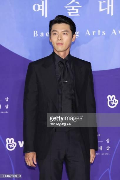 South Korean actor Hyun Bin attends the 55th Baeksang Arts Awards at COEX D Hall on May 01 2019 in Seoul South Korea