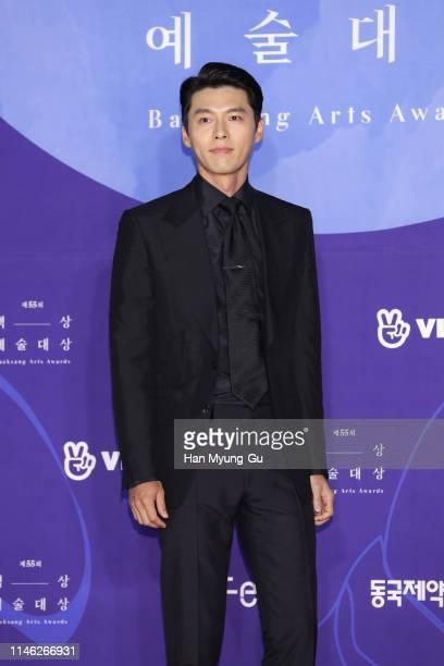 South Korean actor Hyun Bin attends the 55th Baeksang Arts Awards at COEX D Hall on May 01, 2019 in Seoul, South Korea.