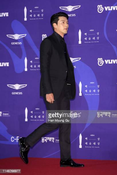 South Korean actor Hyun Bin attends the 55th Baeksang Arts Awards at COEX D Hall on May 01 2019 in Seoul South Korea