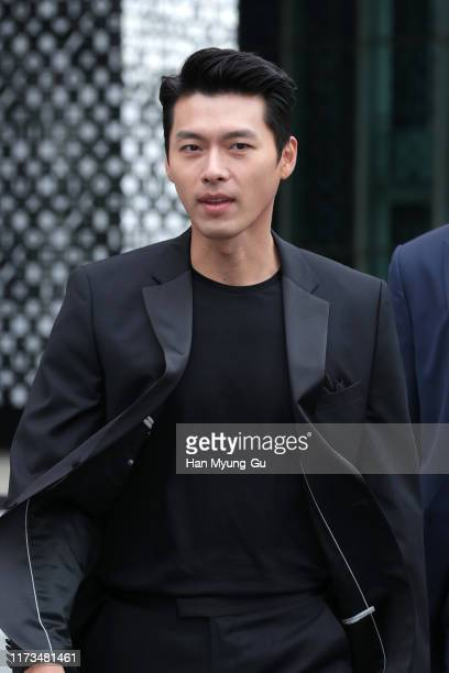 South Korean actor Hyun Bin attends the photocall for OMEGA Speedmaster Apollo 11 - 50th Anniversary Moon Landing on September 09, 2019 in Seoul,...
