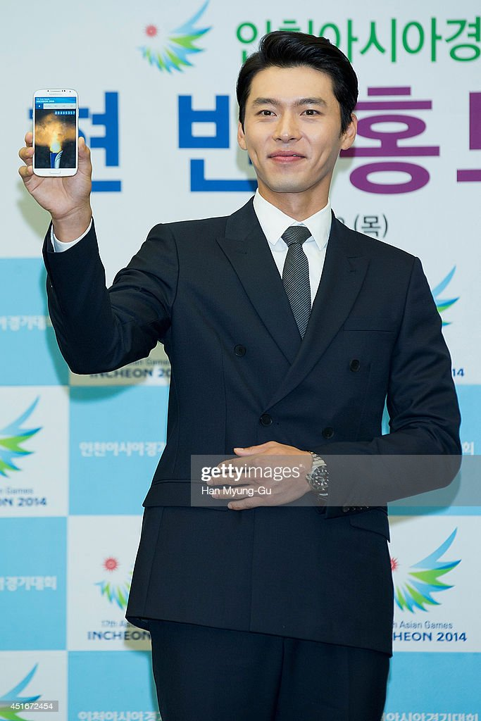 Actor Hyun Bin Appointed As Honorary Ambassador For 17th Asian Games Incheon 2014 : News Photo
